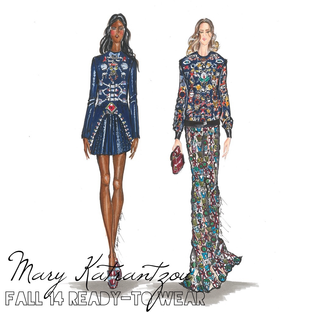 Mary Katrantzou by Sketchnstyle