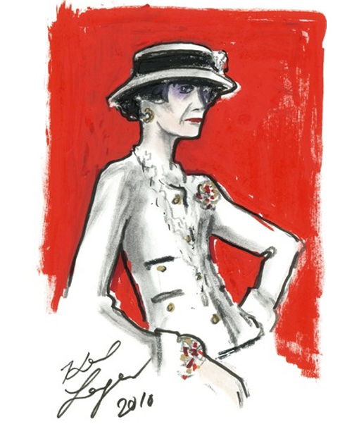 Karl Lagerfeld- Coco Chanel Illustration