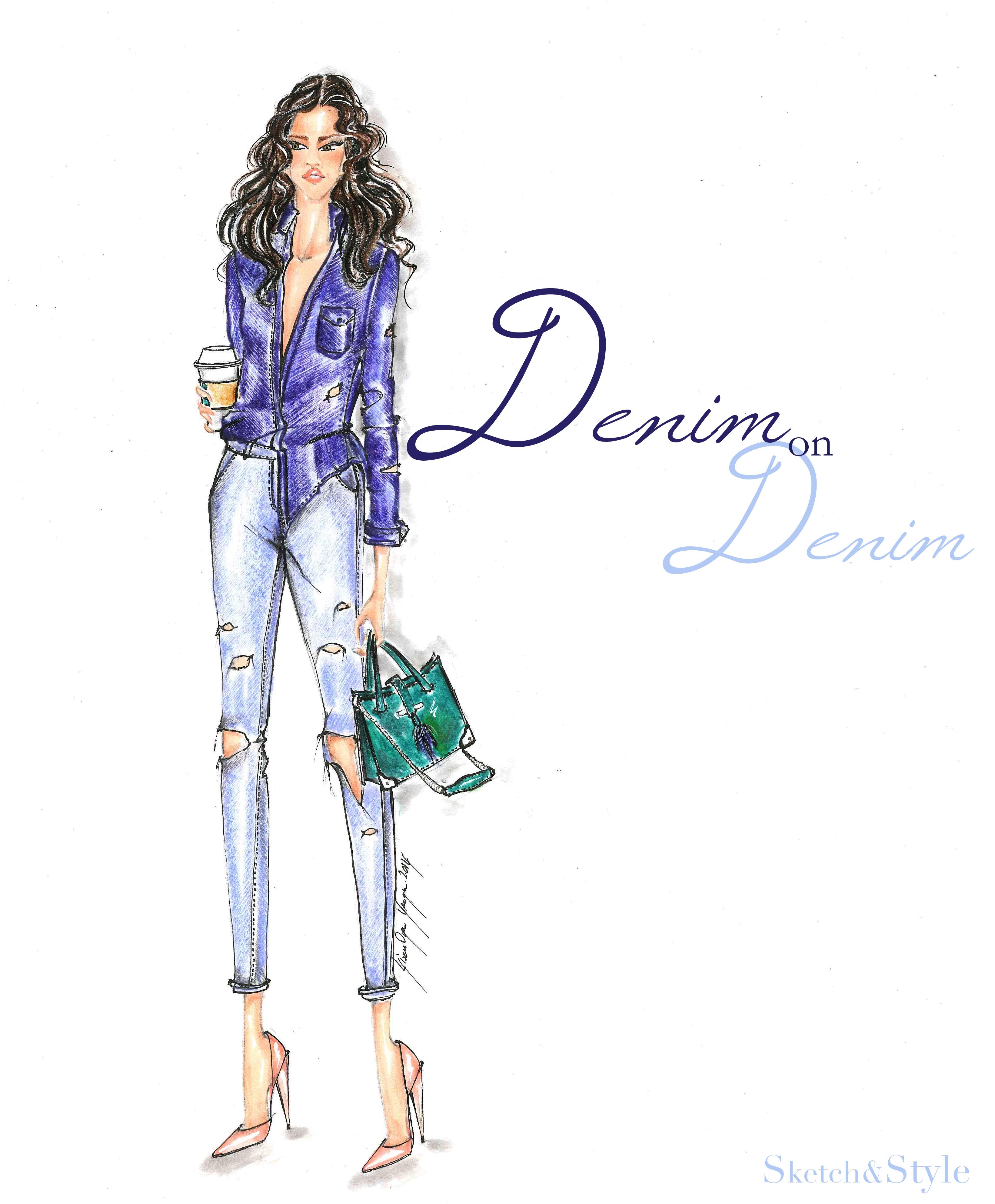 Denim on Denim| Sketch&Style